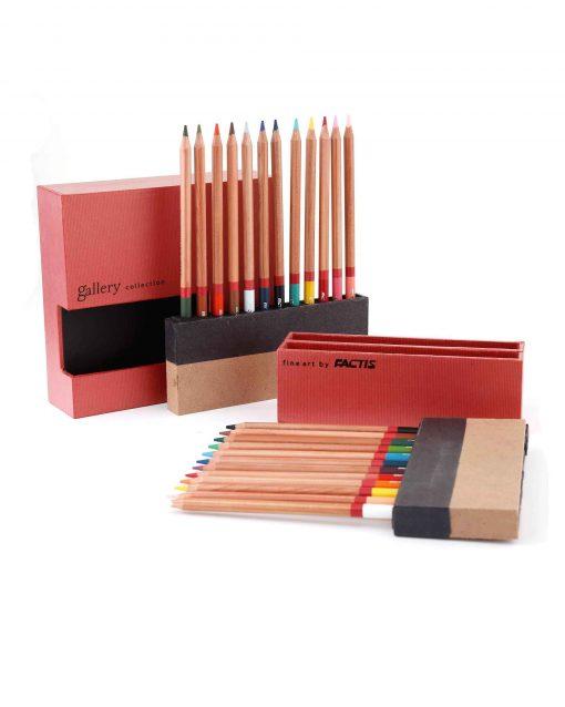 مداد رنگي 24 رنگ جعبه چوبي Factis