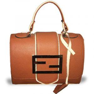 کیف چرم فندی
