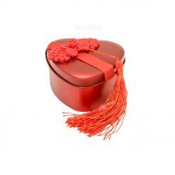 باکس قلب ولنتاین دارای 3 شکلات برای روز عشق 96