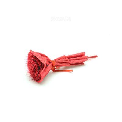 گل کاغذی قرمز برای بسته ولنتاین