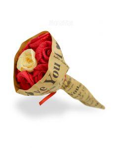 گل دسته ای ولنتاین قرمز محصول هدیه در روز ولنتاین
